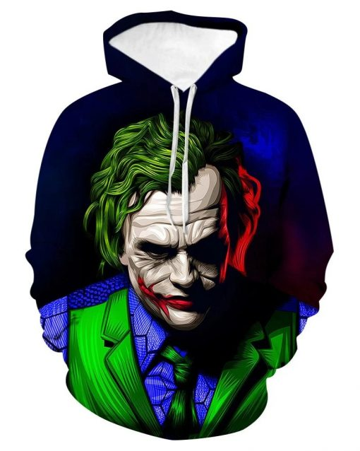 Joker 3D All Over Print Hoodie