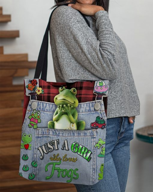 Just A Girl Who Loves Frogs tote bag 1