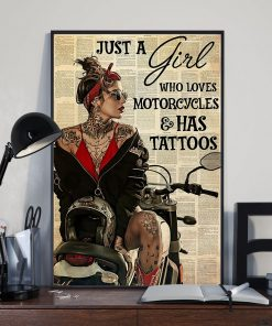 Just A Girl Who Loves Motorcycles And Has Tattoos poster2