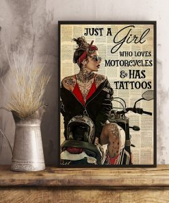 Just A Girl Who Loves Motorcycles And Has Tattoos poster3