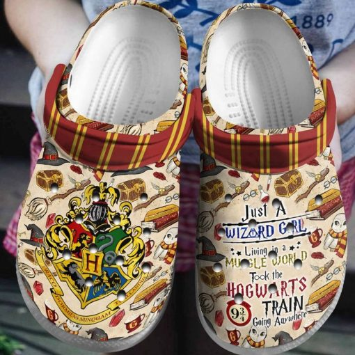 Just a Wizard Girl Living in a Muggle World Took The Hogwarts Train Going Anywhere Crocs Crocband Clog2