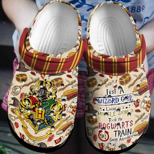 Just a Wizard Girl Living in a Muggle World Took The Hogwarts Train Going Anywhere Crocs Crocband Clog3