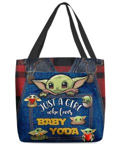 Just a girl who loves Baby Yoda tote bag1