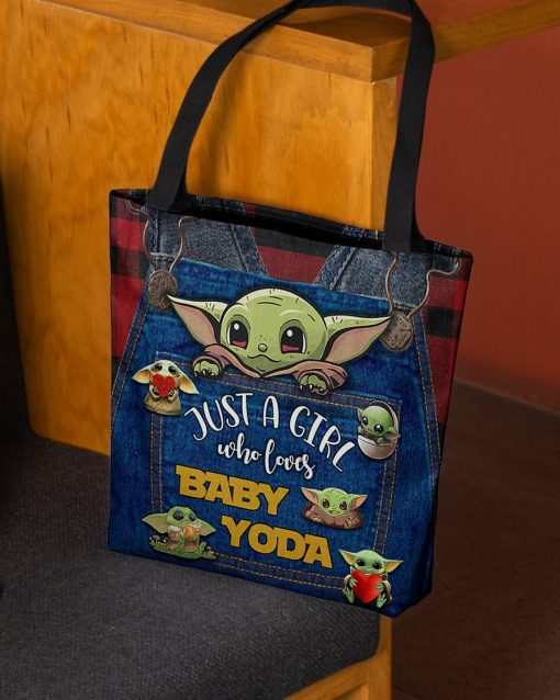 Just a girl who loves Baby Yoda tote bag2