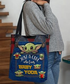 Just a girl who loves Baby Yoda tote bag3