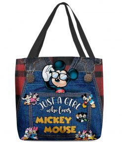 Just a girl who loves Mickey Mouse tote bag 1