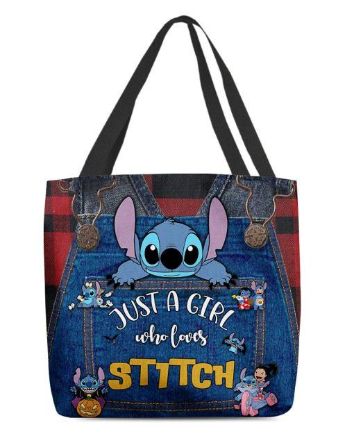 Just a girl who loves Jack Skellington tote bag 4