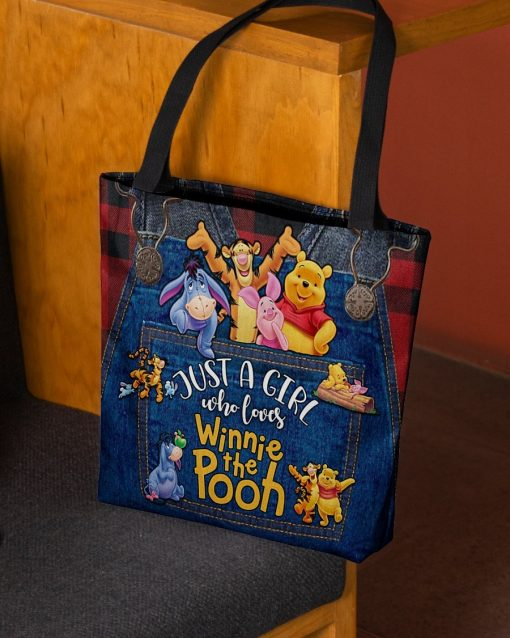 Just a girl who loves Winnie the Pooh tote bag3
