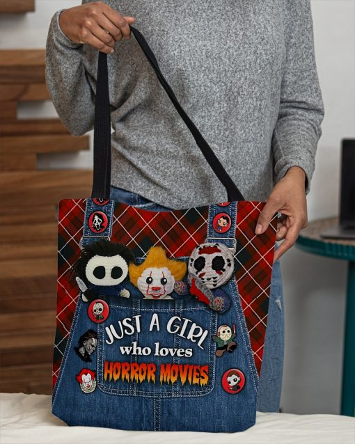 Just a girl who loves horror movies tote bag 1