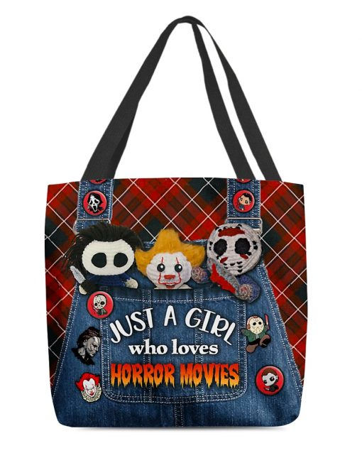 Just a girl who loves horror movies tote bag 5