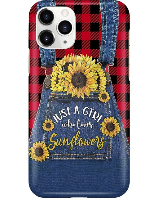 Just a girl who loves sunflowers Jean phone case 11