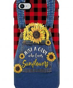 Just a girl who loves sunflowers Jean phone case 7