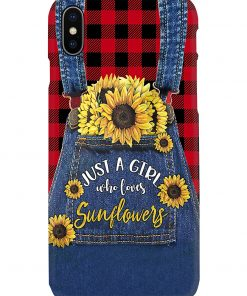 Just a girl who loves sunflowers Jean phone case x