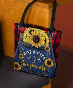 Just a girl who loves sunflowers tote bag2