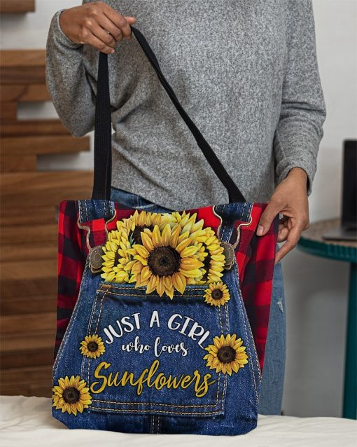 Just a girl who loves sunflowers tote bag3