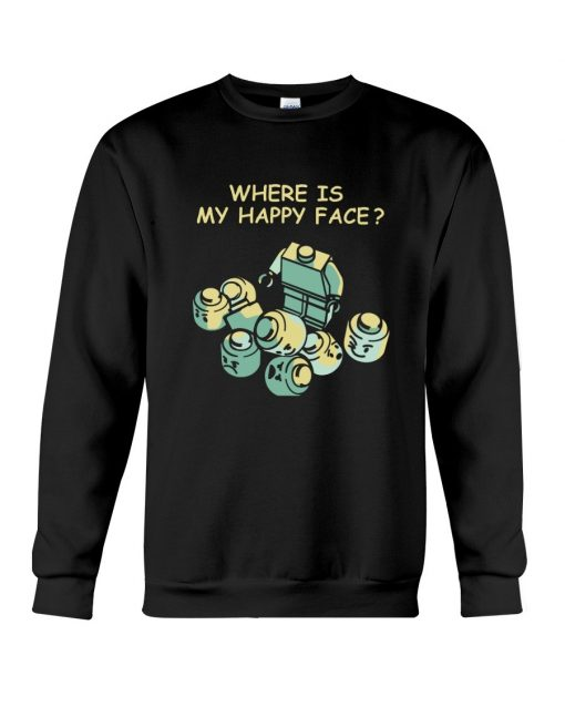 Lego Where is my happy face Sweatshirt