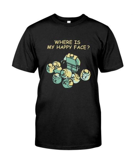 Lego Where is my happy face T-shirt