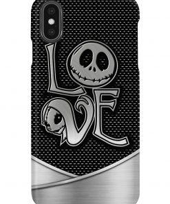 Love Jack Skellington The Nightmare Before Christmas as metal phone case 7