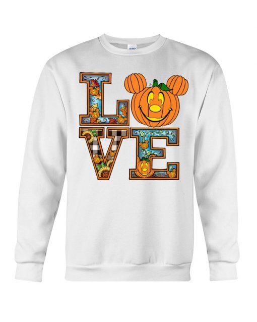 Love Pumpkin Halloween Sweatshirt