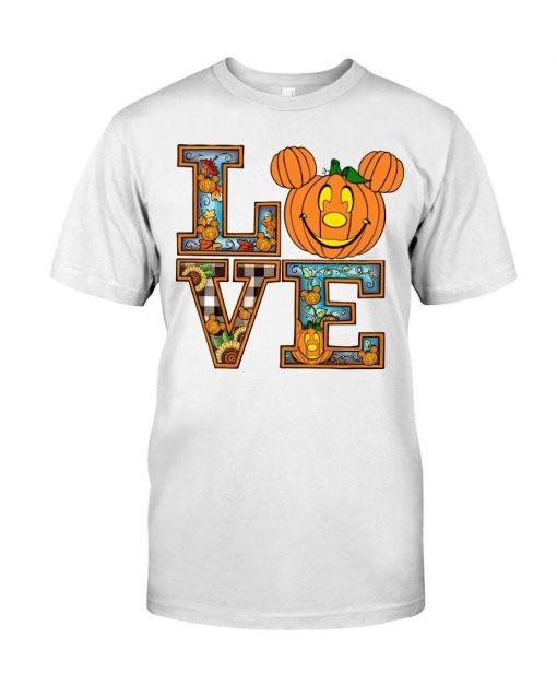 Love Pumpkin Halloween T-shirt