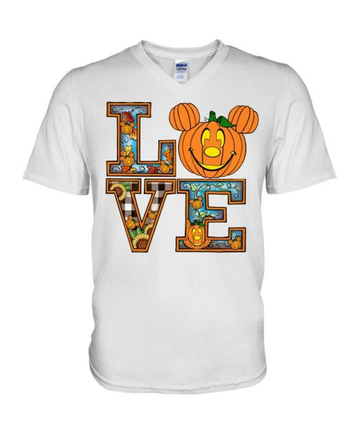Love Pumpkin Halloween V-neck