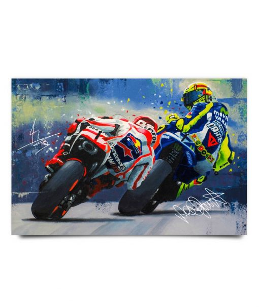 Marc Márquez and Valentino Rossi poster