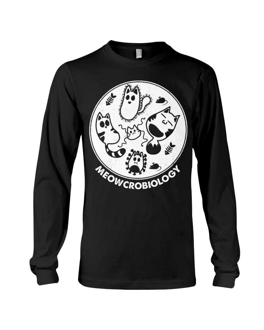 Meowcrobiology Cat Microbiology Long sleeve