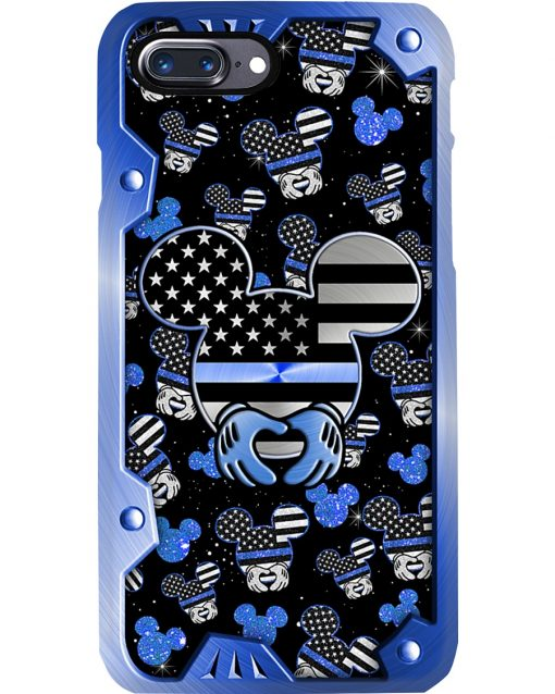 Mickey Mouse Back the blue phone case 7