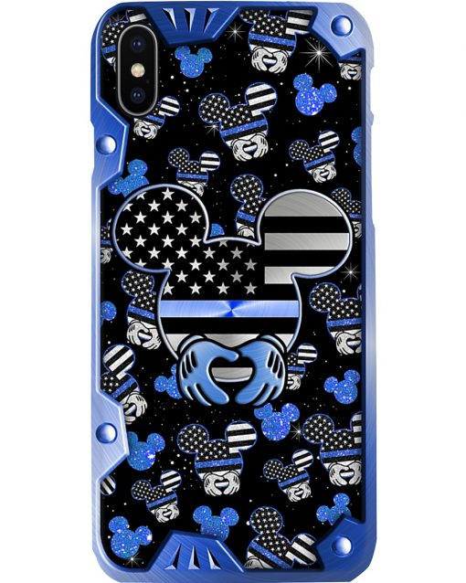Mickey Mouse Back the blue phone case x