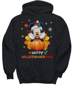 Mickey Mouse Pumpkin Happy Hallothanksmas Hoodie