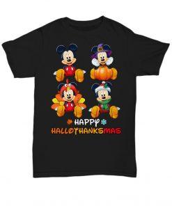 Mickey Mouse Pumpkin Happy Hallothanksmas T-Shirt