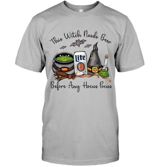 Miller Lite This witch needs beer before any Hocus Pocus T-shirt