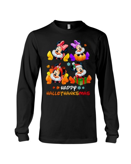 Minnie mouse Happy HalloThanksMas long sleeve