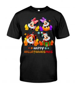 Minnie mouse Happy HalloThanksMas shirt