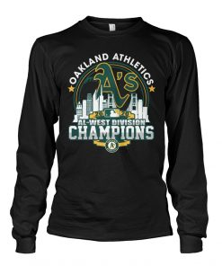 Oakland Athletics 2020 Al-west Division Champions Long sleeve