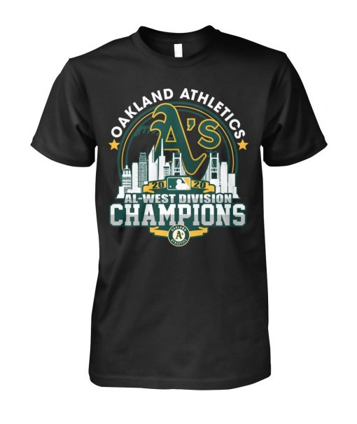 Oakland Athletics 2020 Al-west Division Champions T-shirt