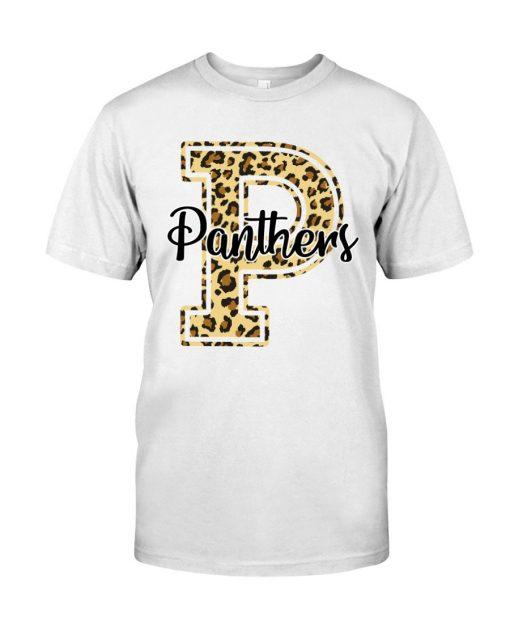 Panthers School Mascot Leopard Skin T-shirt