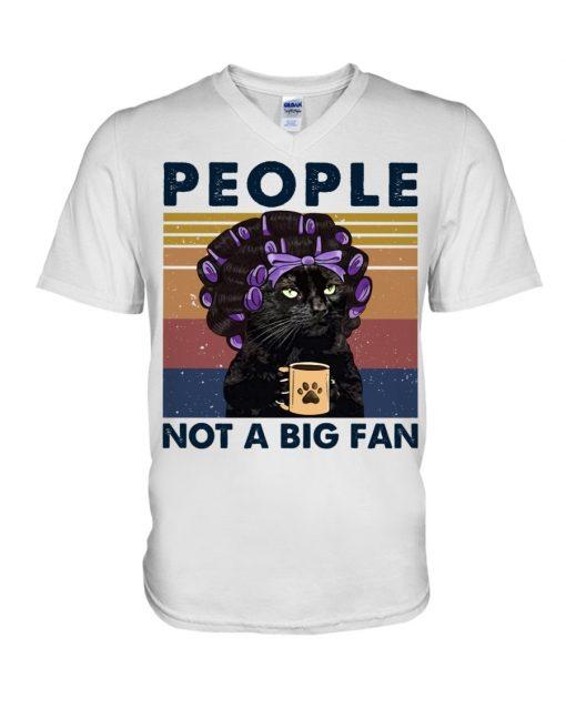 People Not A Big Fan Lady Cat v-neck