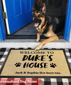 Personalized Dog Welcome doormat1