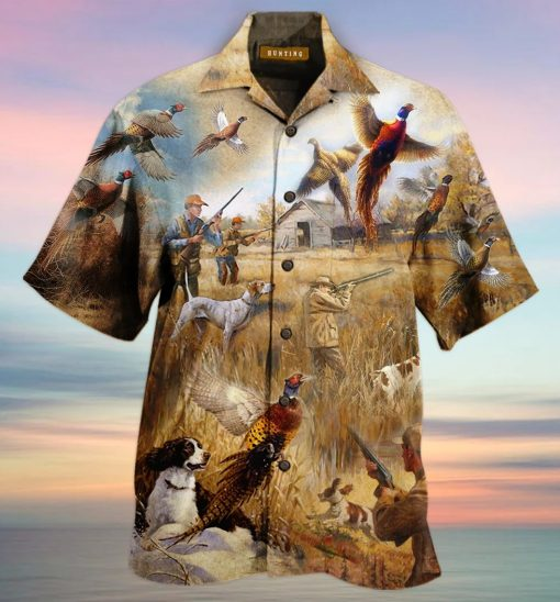 Pheasant Hunting Hawaiian Shirt