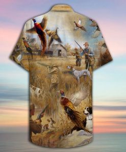 Pheasant Hunting Hawaiian Shirt1