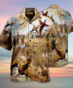 Pheasant Hunting Hawaiian Shirt2