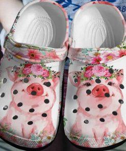 Pig Flowers Crocs Crocband Clog