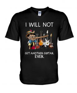 Pinocchio I will not get another guitar ever V-neck