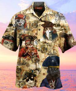 Pirate Cat Hawaiian Shirt