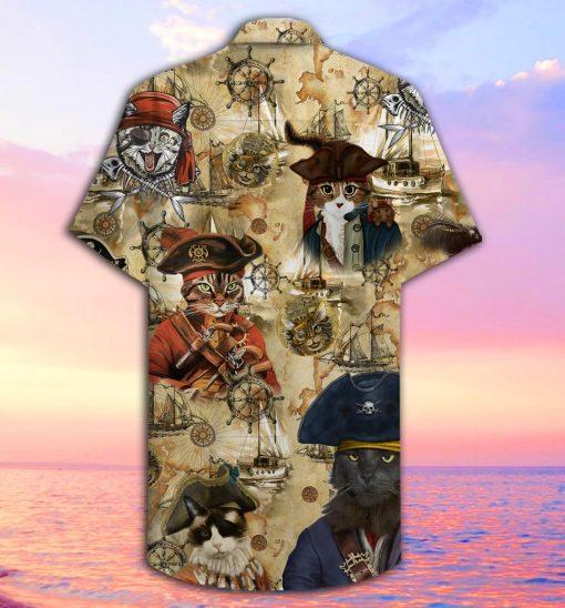 Pirate Cat Hawaiian Shirt1