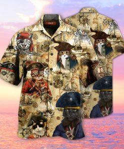 Pirate Cat Hawaiian Shirt2