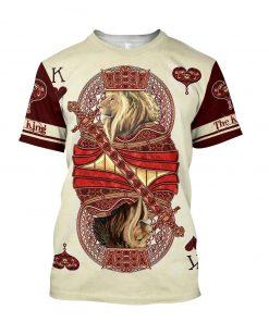 Poker Lion King 3D Over Printed shirt