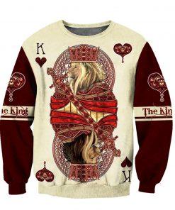 Poker Lion King 3D Over Printed sweatshirt