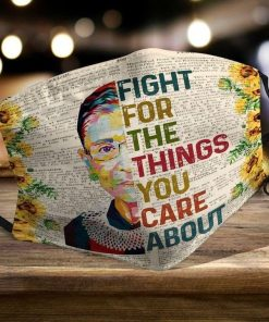 RBG Fight for the things you care about sunflower face mask